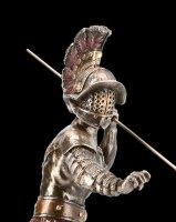 Gladiator Figurine - Murmillo in Fight with Spear