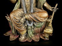 Hindu God Figurine - Vishnu - Sitting on Lotus Flower