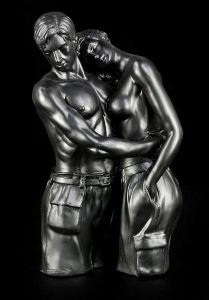 Liebespaar Figur - stehend schwarz