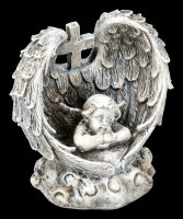 Little Graveyard Angel Figurines with Cross - Set of 2