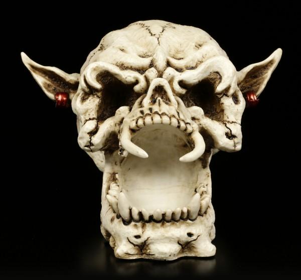Dämonen Schädel mit Ohrring
