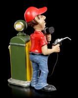 Funny Jobs Figur - Tankwart mit Zapfsäule