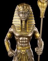 Tutankhamun Figurine - Egpytian Pharao bronzed