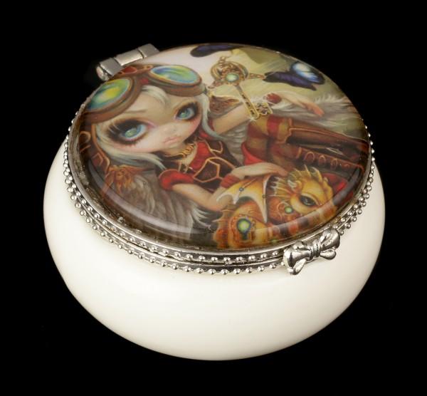 Kleines Schmuckdöschen mit Elfe - Clockwork Dragonling
