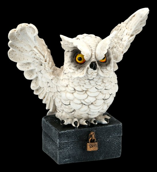 White Owl Figurine - Archimedes