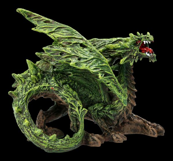 Dragon Figurine - Forest Wing Green