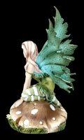 Fairy Figurine - Morgan on Mushroom