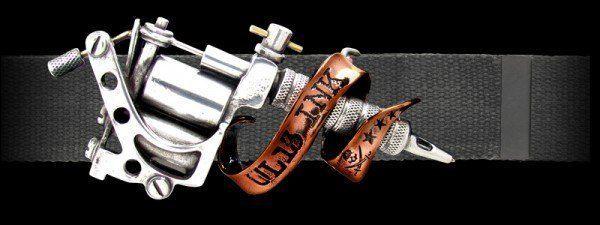 Tattoo Gun - Gürtel mit Gürtelschnalle - Alchemy UL13