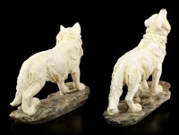 Wolf Figurines Set - The Guards - Set of 2