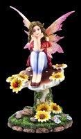 Elfen Figur - Daisy sitzt auf Pilz