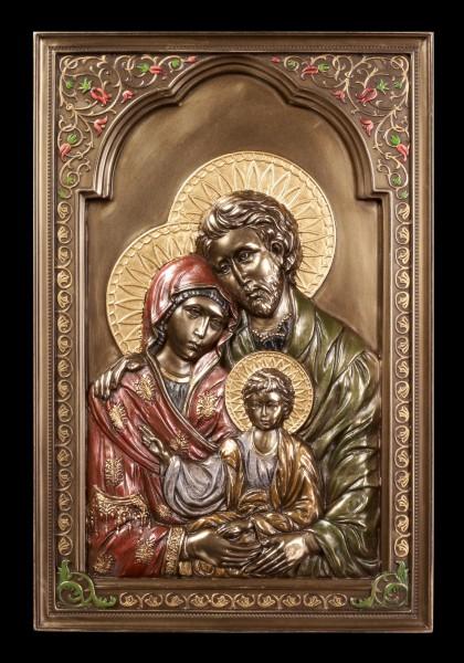 Wandrelief Ikone - Heilige Familie
