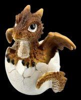 Dragon Figurine - Citrine Hatchling