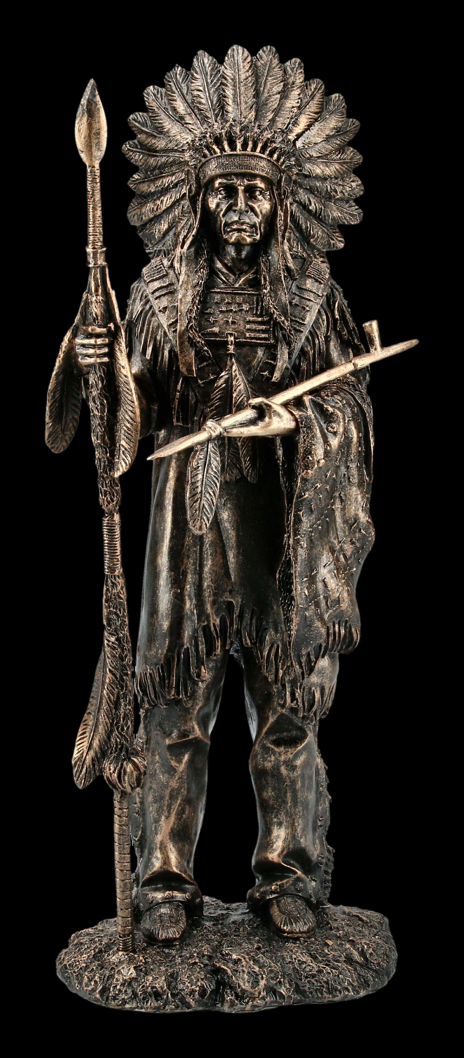 Figur Veronese Western Deko Indianer Büste Assiniboine