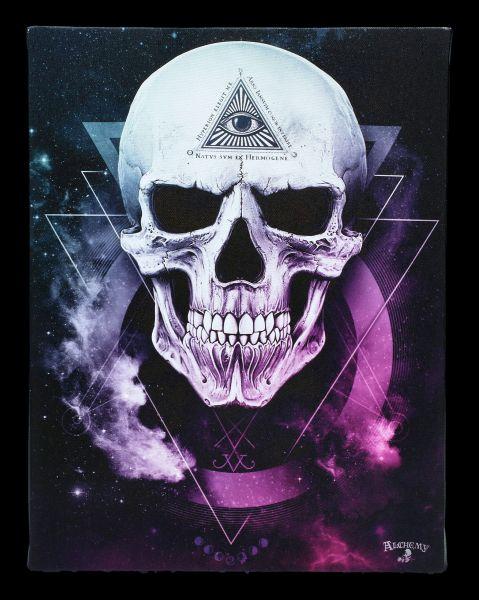 Small Canvas Skull - Dark Goddess
