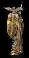 Athena Figur mit Schild und Eule