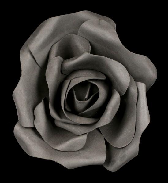 Schwarze Rosenblüte klein