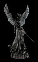 Large black Angel of Death with Scythe - Immortal Death