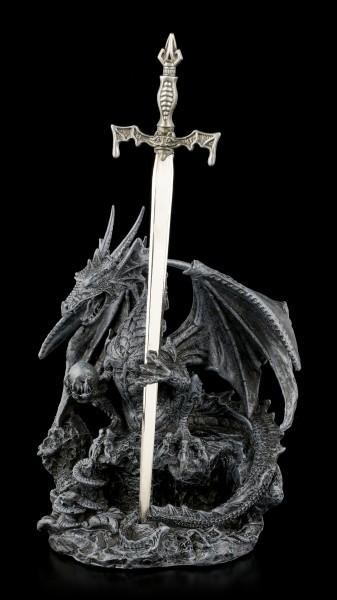 Dragon Letter Opener - Precious Sword - black