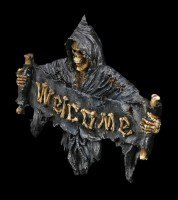 Türschild Welcome - Der Tod
