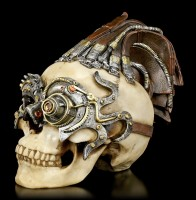 Steampunk Totenkopf - Dreadlock Device - groß