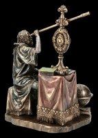 Galileo Galilei Figurine on Telescope