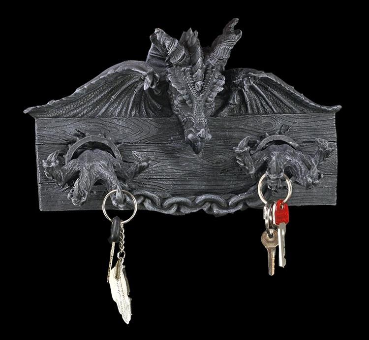 kleiderhaken schl sselboard fantasy drache gothic deko einrichtung gaderobe ebay. Black Bedroom Furniture Sets. Home Design Ideas