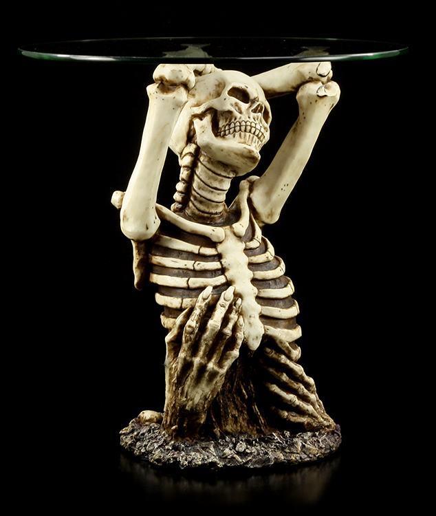 tisch skelett erhebt sich aus grab fantasy gothic deko einrichtung ebay. Black Bedroom Furniture Sets. Home Design Ideas