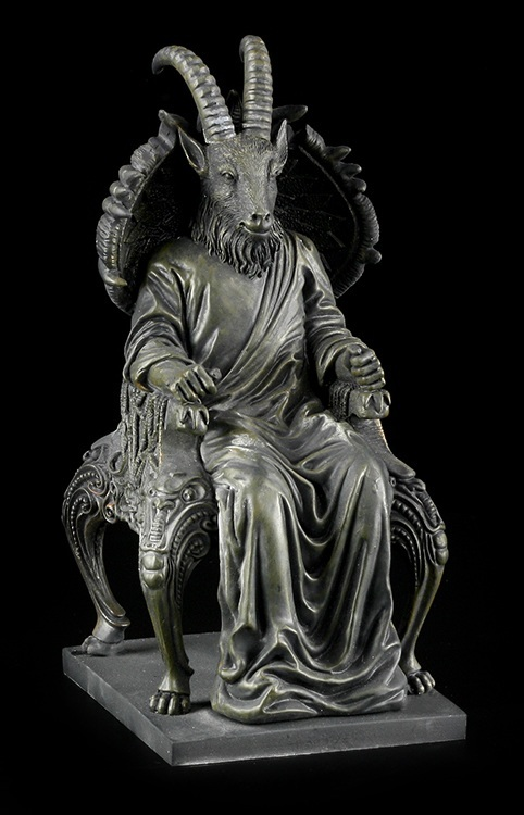 Satan Figurine in Goat form sitting on throne - Devil ...