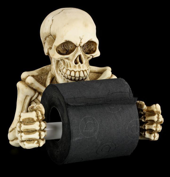 Toilettenpapierhalter - Skelett Deko Figur Klorollen Halter ...