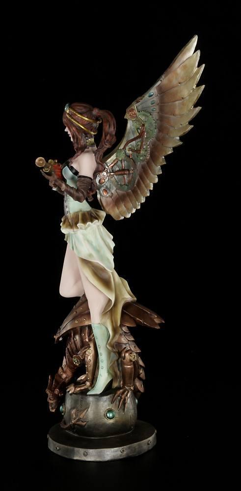 steampunk engel figur amelie mit gewehr gro fantasy statue deko ebay. Black Bedroom Furniture Sets. Home Design Ideas