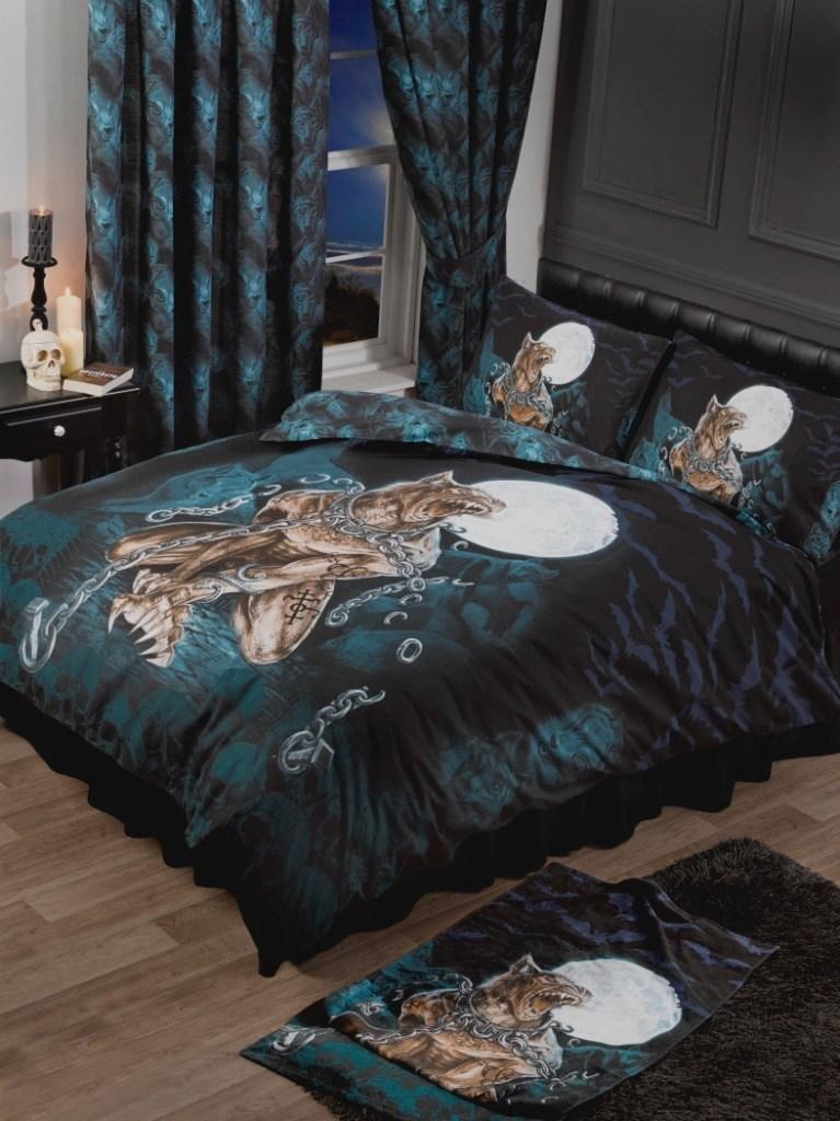 alchemy gothic bettw sche mit werwolf loups garou. Black Bedroom Furniture Sets. Home Design Ideas