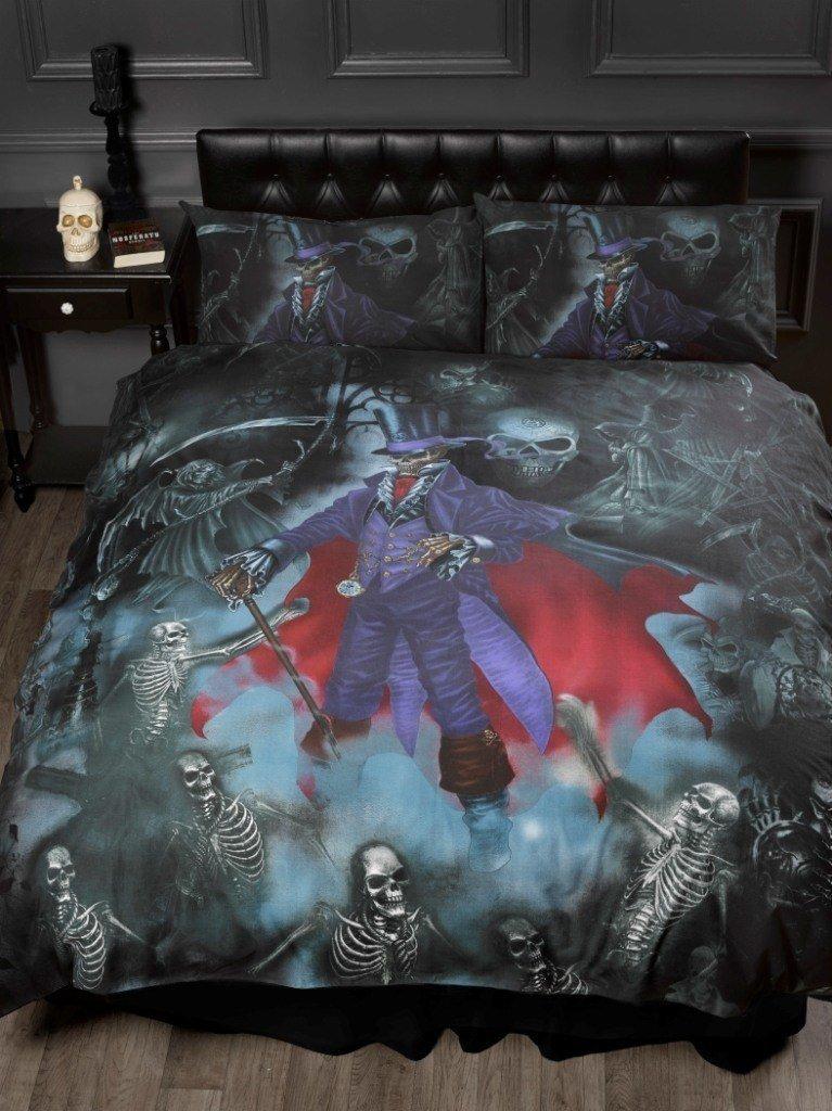alchemy gothic bettw sche mit reaper magistus fantasy. Black Bedroom Furniture Sets. Home Design Ideas