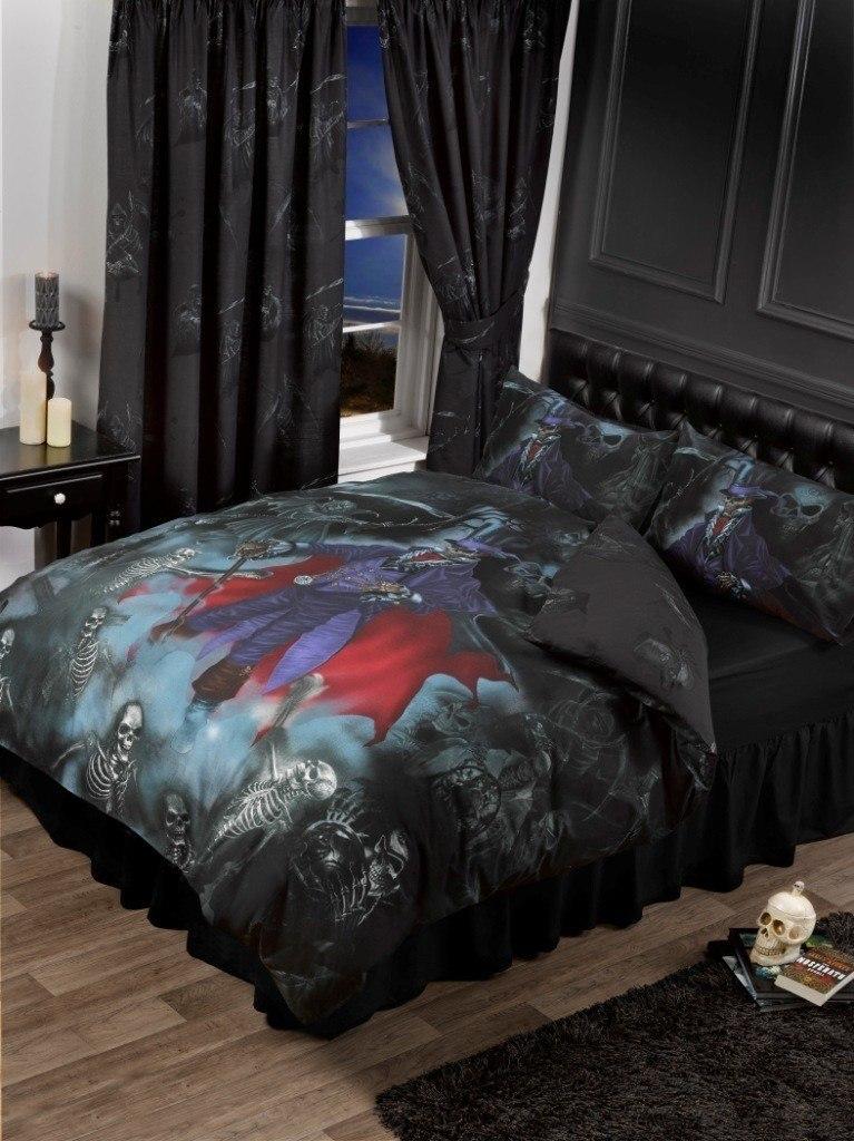 alchemy gothic vorh nge reaper magistus fantasy deko einrichtung sensenmann 4260368225200 ebay. Black Bedroom Furniture Sets. Home Design Ideas