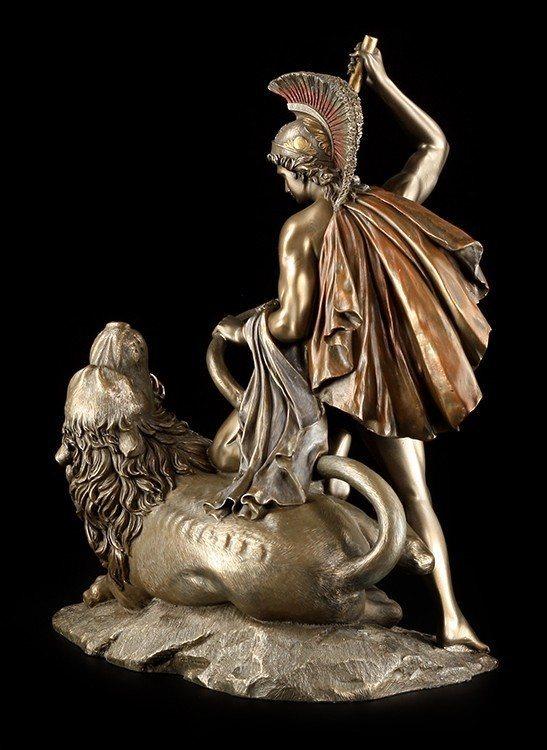 bellerophon figurine battle against the chimera. Black Bedroom Furniture Sets. Home Design Ideas