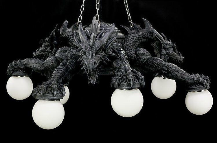Mit Gothic Deckenlampe Figur Drachen Lampe Riesige Hängelampe bf7y6g