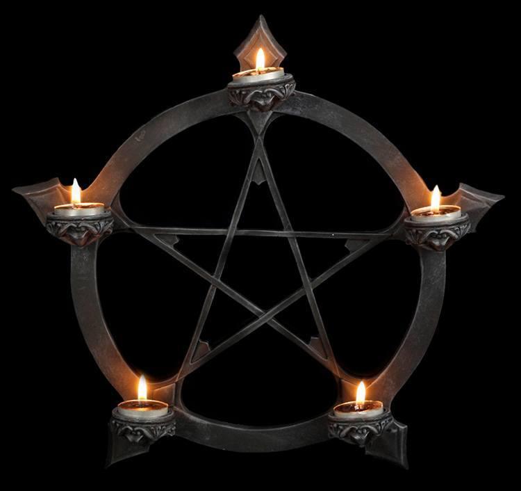 porte bougie r chaud mural pentagramme gothique d co magie fantaisie rituel ebay. Black Bedroom Furniture Sets. Home Design Ideas