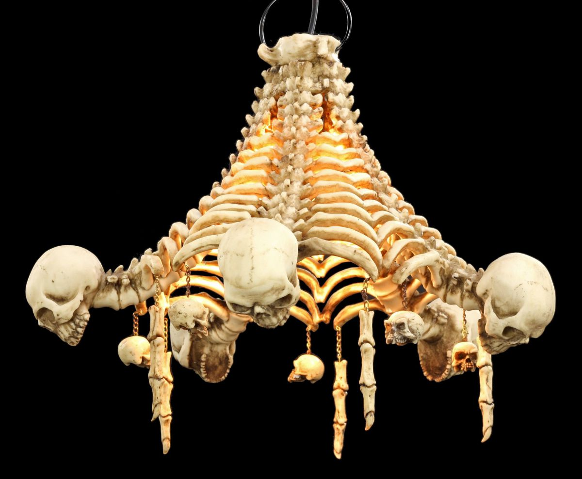 Totenkopf deckenlampe skelett lampe gothic fantasy - Deckenlampe arbeitszimmer ...