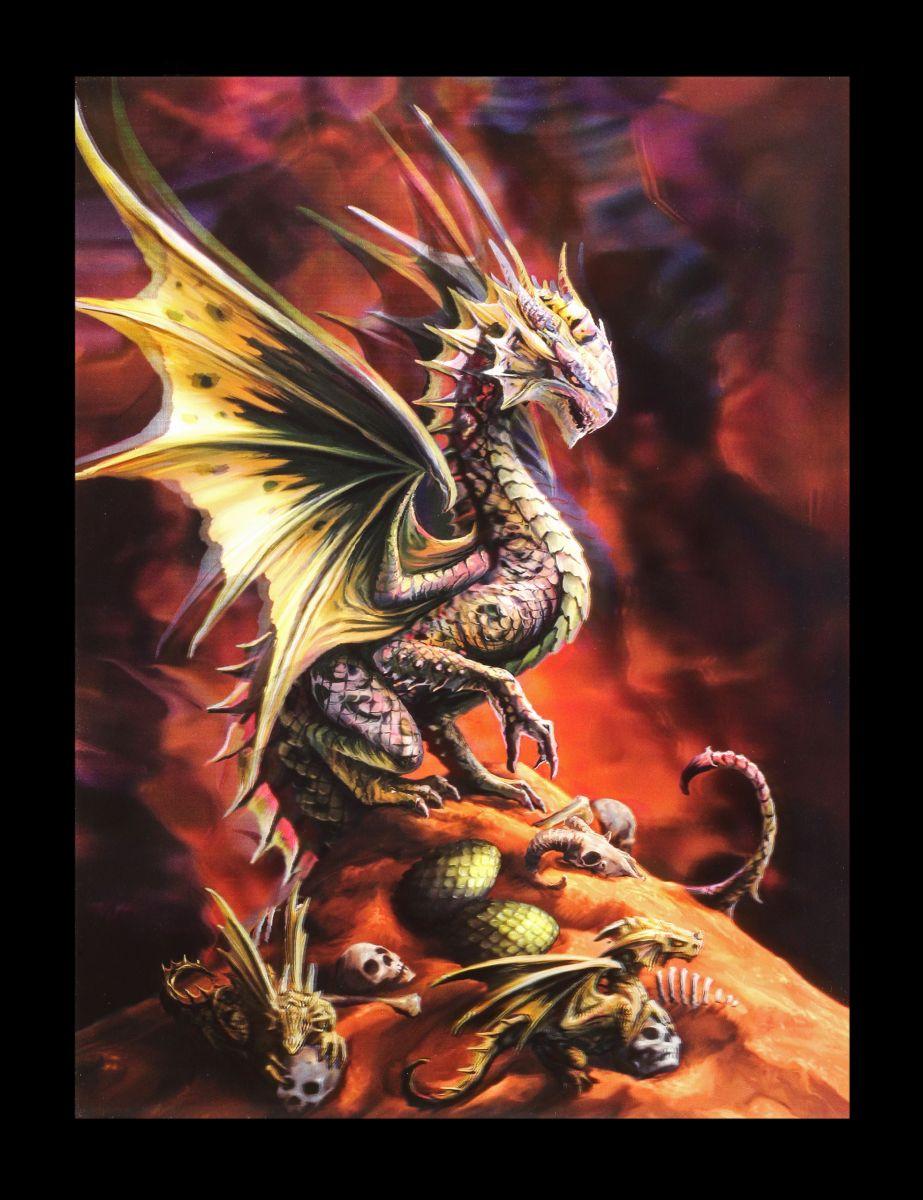 3D-Bild Anne Stokes Drache - Desert Dragon - Fantasy Druck Poster ...