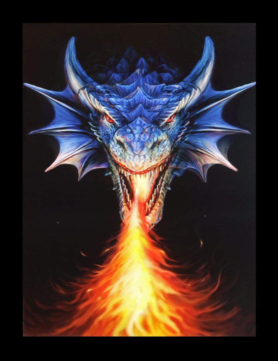3D-Bild Anne Stokes Drache - Fire Breather - Fantasy Poster Druck ...