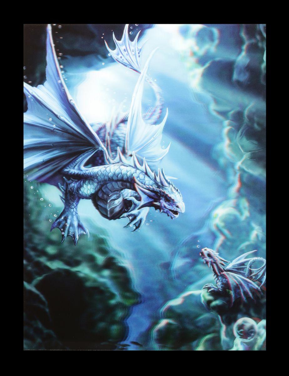 3D-Bild Anne Stokes Drache - Water Dragon - Fantasy Drachenbaby ...