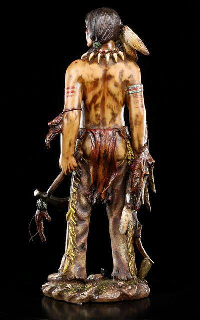 indianer figur mit tomahawk krieger statue western deko ebay. Black Bedroom Furniture Sets. Home Design Ideas