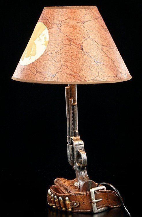 Wilder Westen Lampe Revolver Mit Patronen G Rtel