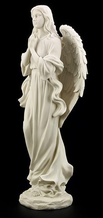 gartenfigur betender engel weiss garten deko statue. Black Bedroom Furniture Sets. Home Design Ideas