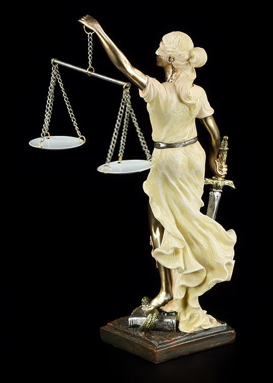 justitia figur zweifarbig geschenk anwalt rechtsanwalt student statue recht ebay. Black Bedroom Furniture Sets. Home Design Ideas