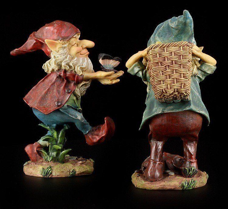 Jard n figuras enanos con mariposa y fruta gnomos de for Decoracion jardin gnomos