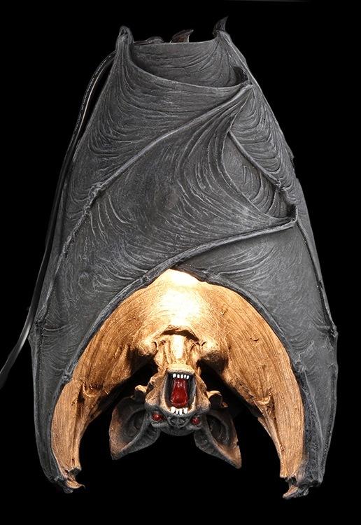 fledermaus wandlampe the dark light fantasy gothic wanddeko halloween ebay. Black Bedroom Furniture Sets. Home Design Ideas