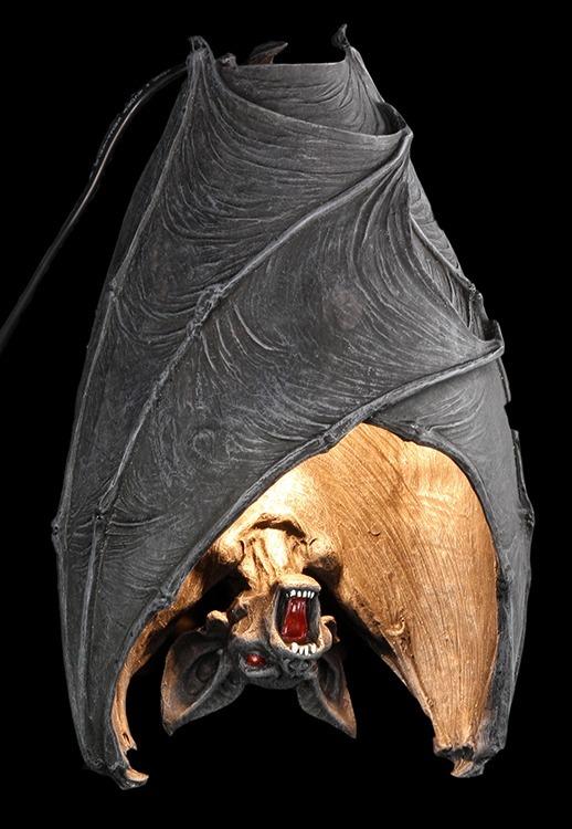 pipistrello lampada da parete the dark luce fantasy gothic decorazione halloween ebay. Black Bedroom Furniture Sets. Home Design Ideas