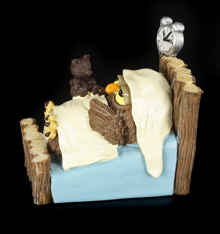 gute nacht lustige eulen figur bett schlafen geschenk witzig spa ebay. Black Bedroom Furniture Sets. Home Design Ideas