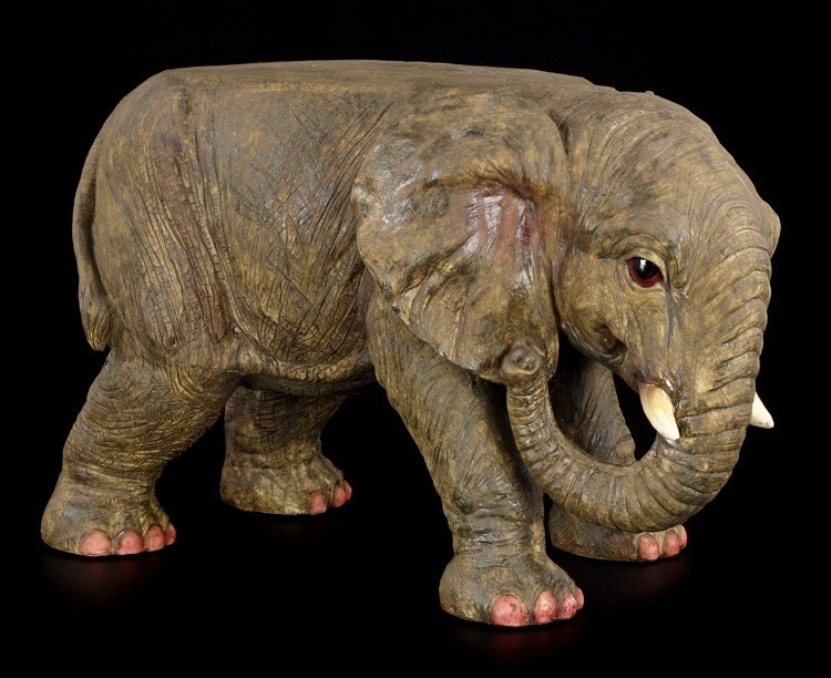 elefanten beistelltisch savanahs rest figur statue deko tisch s ule ebay. Black Bedroom Furniture Sets. Home Design Ideas