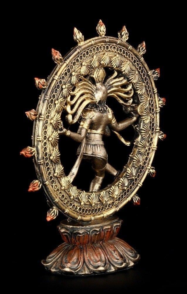 Shiva Figur Als Nataraja Im Flammenkreis Hindu